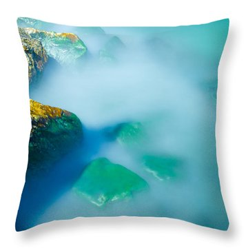 Misty Water Throw Pillow