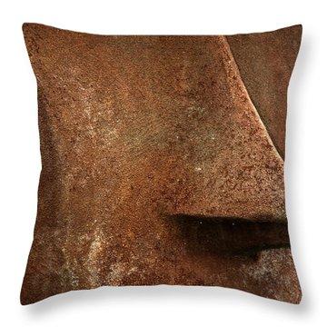 Moai Face Throw Pillow by LeeAnn McLaneGoetz McLaneGoetzStudioLLCcom