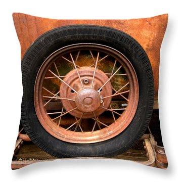 Model A  Oklahoma Spare Throw Pillow by Ann Powell