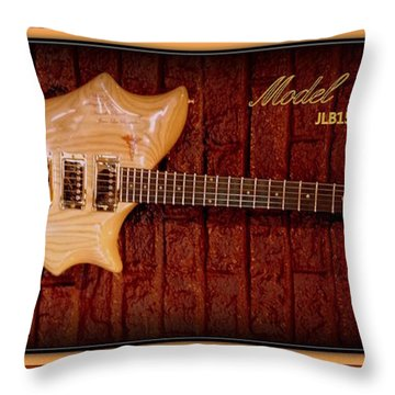 Throw Pillow featuring the photograph Model Unisson Jlb1505dp Custom Guitar by Danielle  Parent