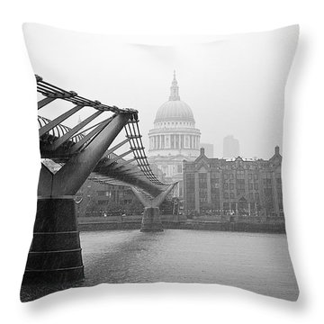 Throw Pillow featuring the photograph Modern And Traditional London by Lenny Carter
