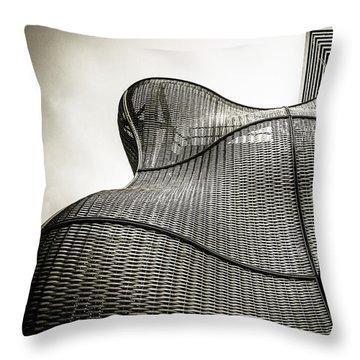 Modern Basket Weaving In London Throw Pillow by Lenny Carter