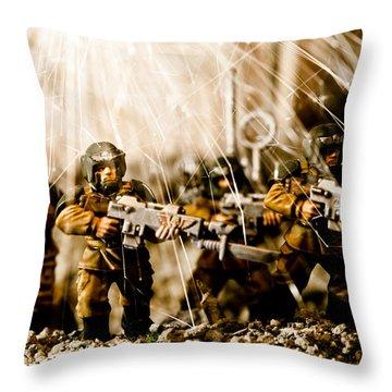 Modern Battle Field Throw Pillow by Marc Garrido