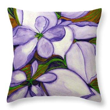 Modern Mussaenda Throw Pillow by Debi Singer