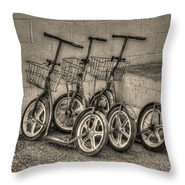 Modern Old Ways In Black And White Throw Pillow