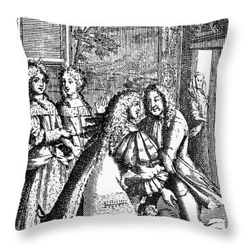 Moliere: Pr�cieuses, 1682 Throw Pillow by Granger