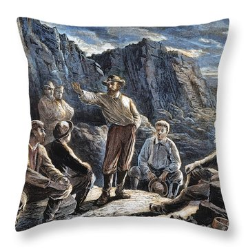 Molly Maguires, 1874 Throw Pillow by Granger