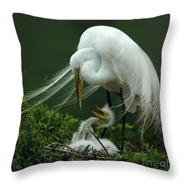 Mom And Me Throw Pillow by Vivian Christopher