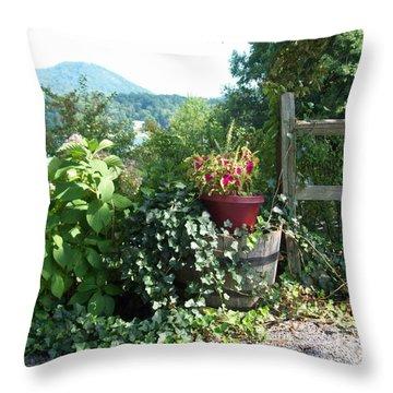 Throw Pillow featuring the photograph Mom's Garden by Lou Ann Bagnall