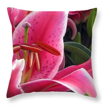 Mona Lisa Throw Pillow by Debi Singer