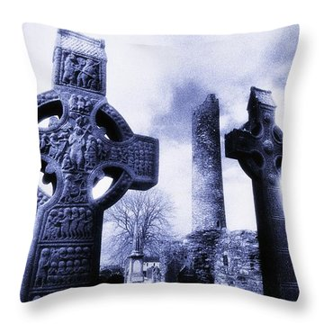 Monasterboice, Co Louth, Ireland Throw Pillow by The Irish Image Collection