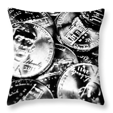 Money Throw Pillow by Ronnie Glover