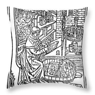 Monk: Scribe, 1488-89 Throw Pillow by Granger