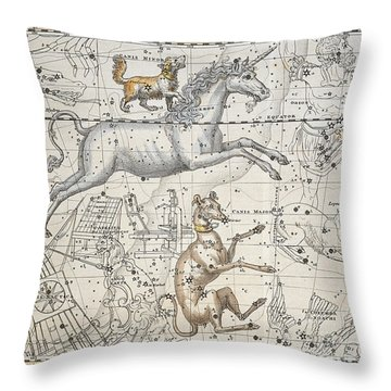 Monoceros Throw Pillow