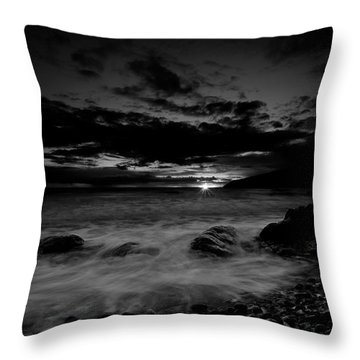 Monochrome Sunset  Throw Pillow
