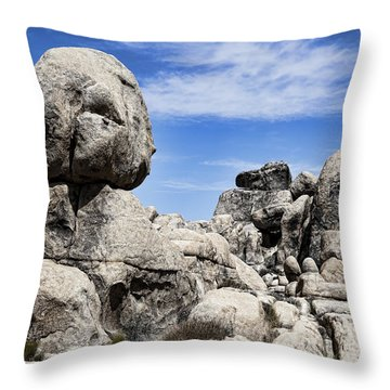 Monolithic Stone Throw Pillow by Kelley King