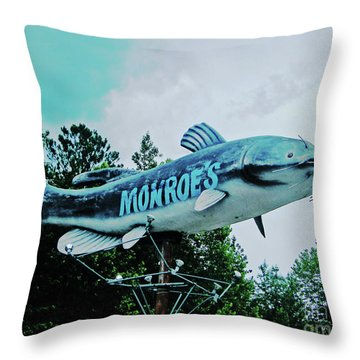 Monroe's Catfish  Throw Pillow by Lizi Beard-Ward