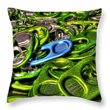 Monster Can Tabs Detroit Mi Throw Pillow by Nicholas  Grunas