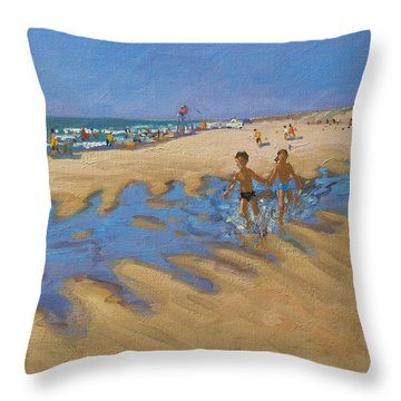 Montalivet France Throw Pillow by Andrew Macara