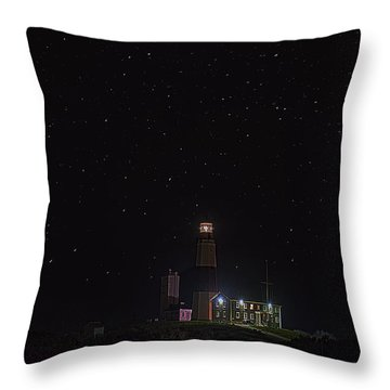Montauk Starry Night Throw Pillow by William Jobes