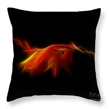 Throw Pillow featuring the photograph Montbretia by Lynn Bolt