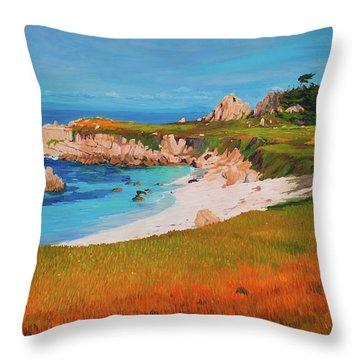 Monterey Peninsula Throw Pillow