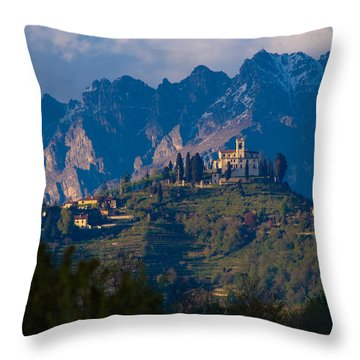 Montevecchia And Resegone Throw Pillow by Marco Busoni