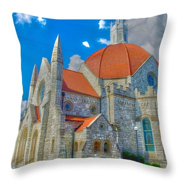 Montgomery Baptist Church Hdr Throw Pillow by Shannon Harrington