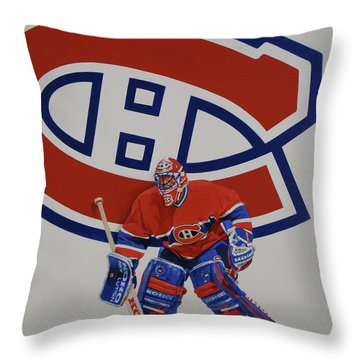 Throw Pillow featuring the painting Montreal by Cliff Spohn