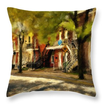 Montreal Street Throw Pillow