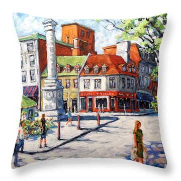 Montreal Street Urban Scene By Prankearts Throw Pillow by Richard T Pranke
