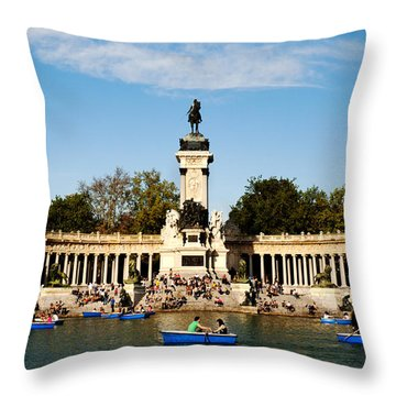 Monument To Alfonso Xii Throw Pillow by Fabrizio Troiani