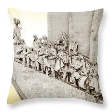 Monument To Discoveries Throw Pillow by Carlos Caetano