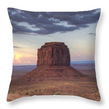 Monument Valley - Merrick Butte Throw Pillow by Saija  Lehtonen