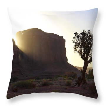 Monument Valley At Sunset Throw Pillow by Mike McGlothlen