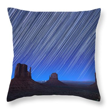 Monument Valley Star Trails 1 Throw Pillow by Jane Rix