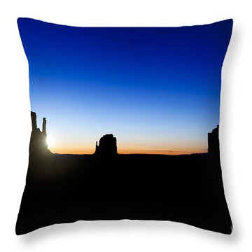 Monument Valley Sunrise Throw Pillow by Jane Rix