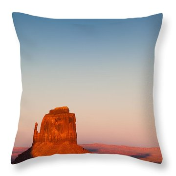 Monument Valley Sunset Throw Pillow by Dave Bowman