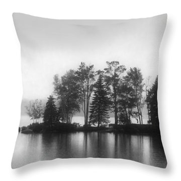 Mood Lake New England Throw Pillow