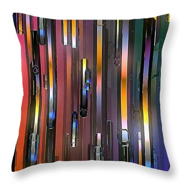 Throw Pillow featuring the digital art Mood Lighting by Greg Moores