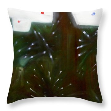 Throw Pillow featuring the painting Mood by Min Zou
