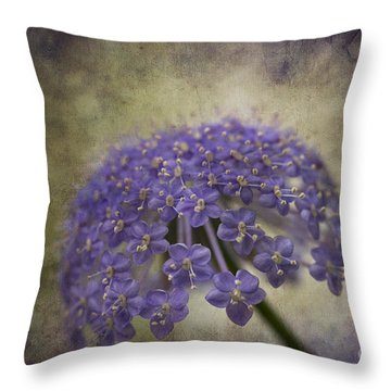 Moody Blue Throw Pillow by Clare Bambers