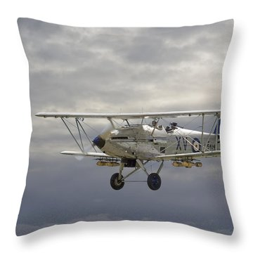 Moody Blue Throw Pillow by Pat Speirs