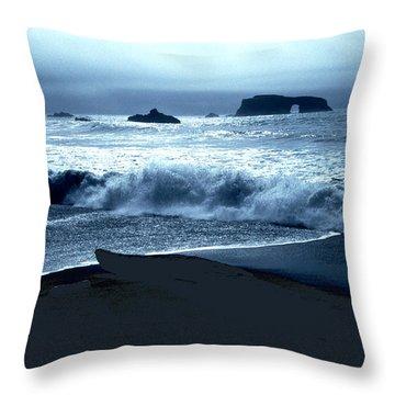 Arch Rock Northern California Coast Throw Pillow