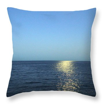 Moon And Water Throw Pillow