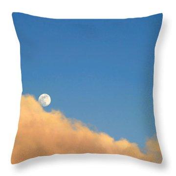 Moon At Sunset Throw Pillow