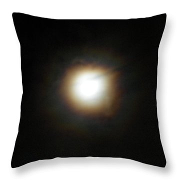 Throw Pillow featuring the photograph Moon Glow by Diannah Lynch