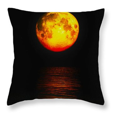 Moon Glow Throw Pillow by J Riley Johnson