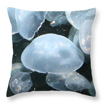 Moon Jelly Throw Pillow