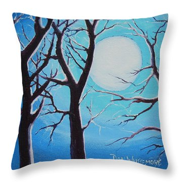 Throw Pillow featuring the painting Moon Light by Dan Whittemore